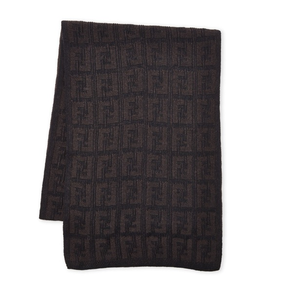 85393cd4 Fendi Accessories | Ff Logo 100 Lana Wool Scarf | Poshmark